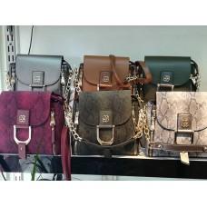 Дамска чанта изработена от еко кожа различни цветове
