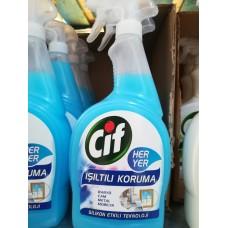 Cif Gel - спрей, почистващ препарат за баня, стъклени и метални повърхности и мебели - 750 ml