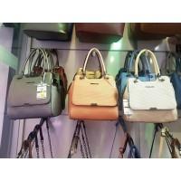 Елегантна дамска чанта от еко кожа в различни цветове - ИЗЧЕРПАН!