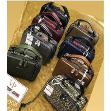 Дамска спортно-елегантна чанта от Еко кожа в различни цветове - реплика