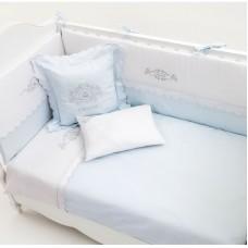 Луксозен комплект за сън за бебе - 80/130 см, 7 части - Бродерия