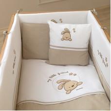 Комплект за сън на бебе Funna Baby Little Friend - 80х140 см, 8 части